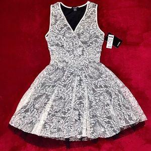 MAJORA White Lace Babydoll Dress